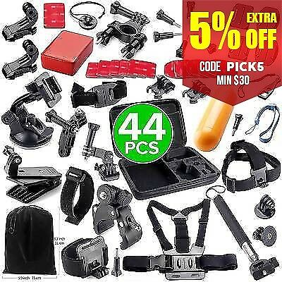 44in1 Accessories Pack Case Chest Head Monopod For GoPro  HD Hero 4 3+ 3 2