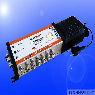 Multiswitch 5/12 with Power Supply Terrestrial active 12 Subscribers