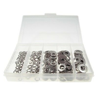 Qty 225 Flat Washer Kit M5 M6 M8 M10 M12 Marine Grade Stainless Steel 316 #123