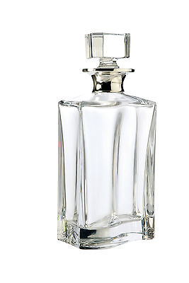Modern Solid Silver & Glass Decanter (Wine, Whisky, Sherry, Port, Spirits)