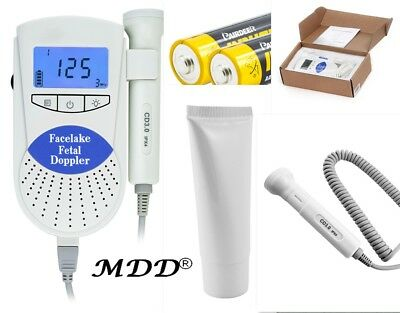 FDA Sonoline B Fetal Doppler 3MHz Probe Baby Heart Monitor BacklightLCD GeL Blue