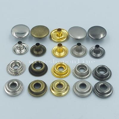 "12mm 15mm 1/2"" 5/8"" Button Snap Rapid Rivet Fasteners Leather for Stud KAM Craft"