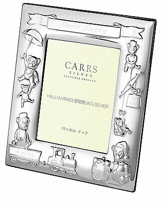 Solid Silver Baby Birth Frame By Carr's Child Christening