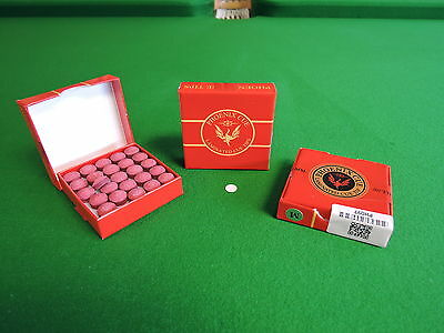 GENUINE PHOENIX (RED) SNOOKER / POOL / TIPS Chesworth Cues Sheffield