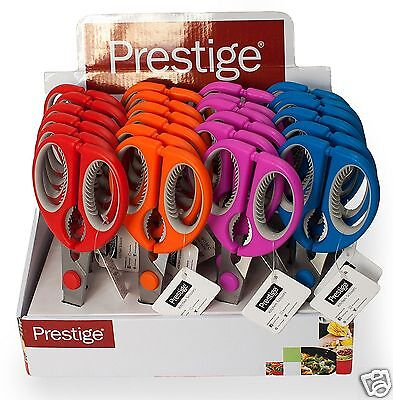 Prestige Coloured Kitchen Scissors Blue Pink Orange Red 59932