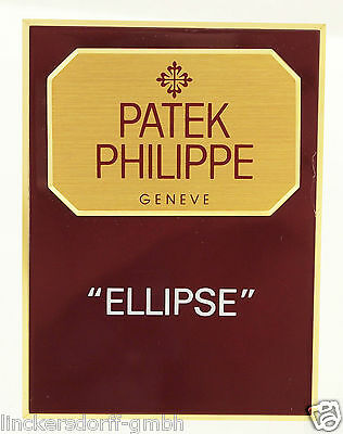 "Patek Philippe ""ellipse"" - Official Agent Sign / Schild / Aufsteller / Display"