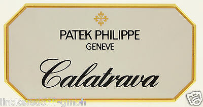 "Patek Philippe ""calatrava"" - Official Agent Sign / Schild / Aufsteller / Display"