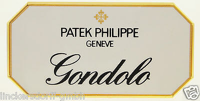 "Patek Philippe ""gondolo"" - Official Agent Sign / Schild / Aufsteller / Display"