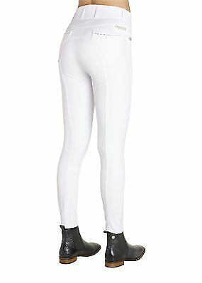 Montar Lena Breeches with Small Rivets - White - Silicone Fullseat