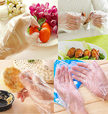 100-1000 New Polythene Disposable Gloves Car Food Safe Hygiene Cleaning Catering