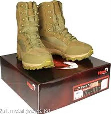 Viper Tactical Elite 5 Coyote Boot Cordura Vibram Leather Waterproof Combat Army