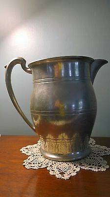Vintage beauty Pewter Water pitcher 3441 antique