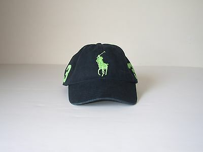 NEW Polo Ralph Lauren Baseball Cap Hat Big Pony Adjustable LEATHER STRAP