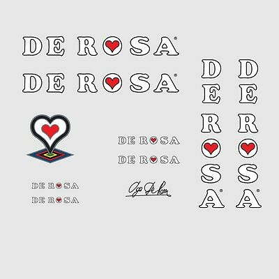 01128 De Rosa Bicycle Stickers Decals Transfers
