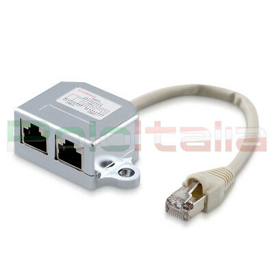 SPLITTER Cavo di Rete Ethernet RJ45 Cat5e FTP LAN Adattatore Patch per ADSL PC