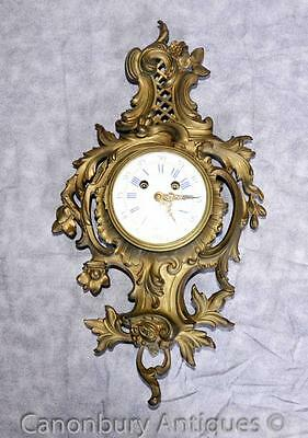 Antique Louis XVI Ormolu Rococ Wall Clock French Clocks