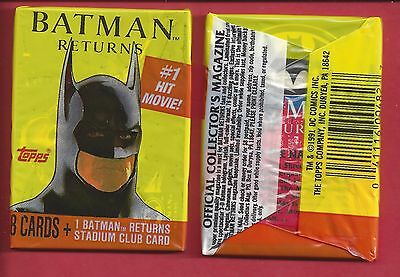 1991 Topps Batman Returns single Wax Pack