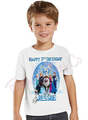 Frozen Birthday T-Shirt Custom Name and Age Personalized Frozen Shirt