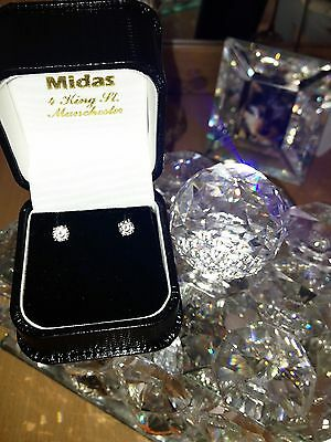 White gold 18 ct Diamond Earrings Jewelry 0.75 ct black + certificate flawless
