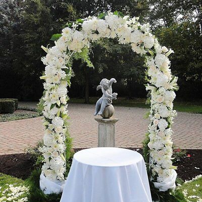 7 5 Ft White Metal Garden Arch Wedding Bridal Prom Party Flower Decor