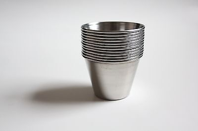 Set Of 12 Stainless Steel Sauce Cups Free Shipping
