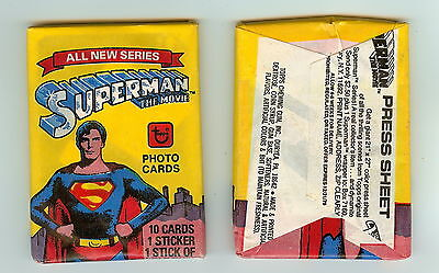 1978 Topps Superman the Movie 2nd series  single Wax Pack