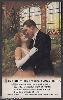 BAMFORTH SONG POSTCARD - Some Night, Some Waltz, Some Girl (1)