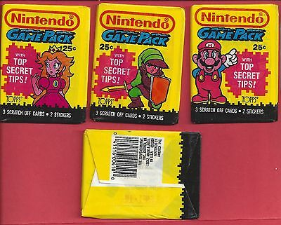 1989 Topps Nintendo Game Pack (SINGLE) Wax Pack