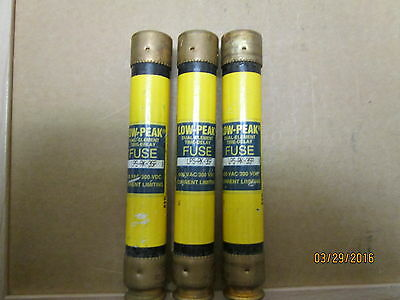 New Other,  Bussman Lps-Rk-3Sp, 3 Amps Low Peak Fuse, 3 Pc's X Lot.