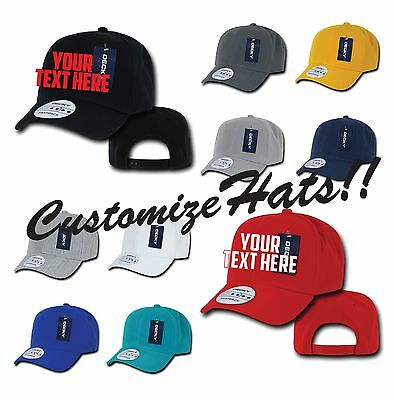 CUSTOM EMBROIDERY Personalized Customized Flat Bill Decky Fitted