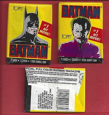 1989 Topps Batman 1st series single Wax Pack