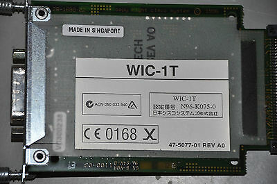 Genuine CISCO WIC-1T SERIAL INTERFACE MODULE 1-port card CCNA CCNP LABS 1