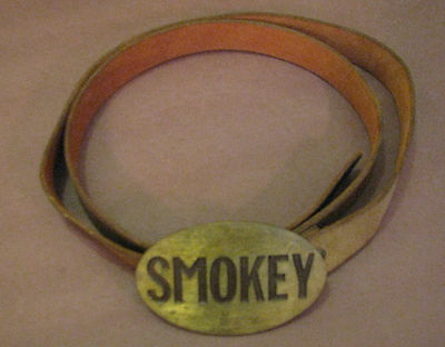Vintage Belt Smokey Sunrise Leather USA Brass