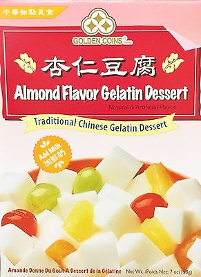7oz Golden Coins Almond Flavor Gelatin Dessert Traditional Chinese