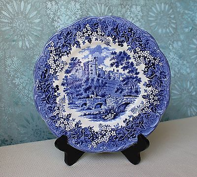 J.&G. Meakin Romantic England Blue Haddon Hall Dinner Plate