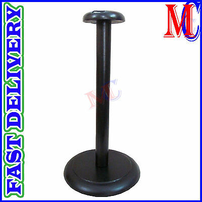 Wood Helmet Stand For Medieval Armour Helmet Wooden Display Post Black Finish
