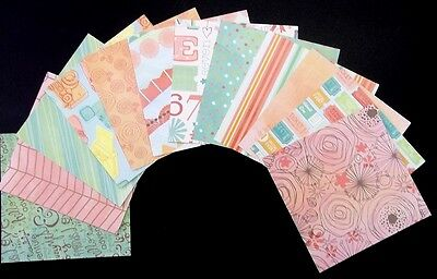 """*FROLIC*  12 Double sided papers - 15cm x 15cm  (6""""x6"""") Scrapbooking- Cardmaking"""