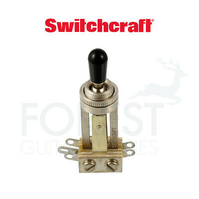 Switchcraft long toggle switch straight, chrome with black tip
