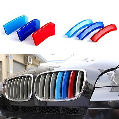ABS Front Center Grille Cover Trim Buckle Strips 3 Colors For BMW X5 X6 E70 E71