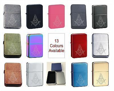 Masonic 305 Personalised Engraved Star Lighter In Gift Tin