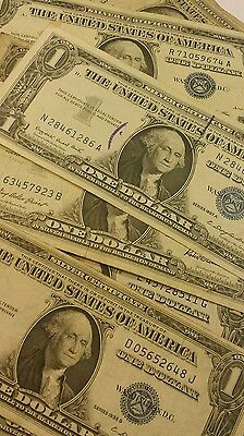 10 -  $1 Silver Certificates 1957 1935 selected from lot pictured