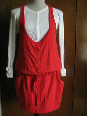Armani Exchange Women's Red Gorgeous Viscose  Mini  Dress Size Large NWT