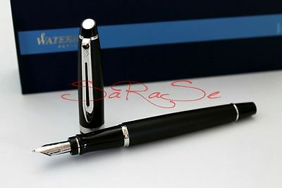 Waterman Expert Füller Fountain Pen New Generation Matt Schwarz Palladium