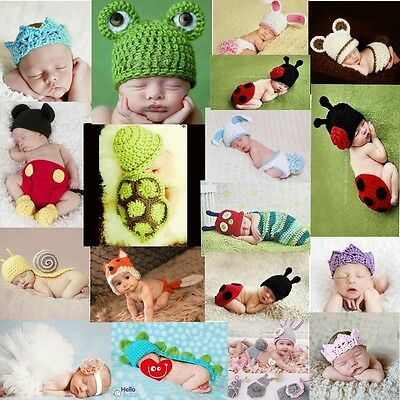 Baby Boy Girl Knit Clothes Newborn Photo Crochet Costume Photography Prop Outfit