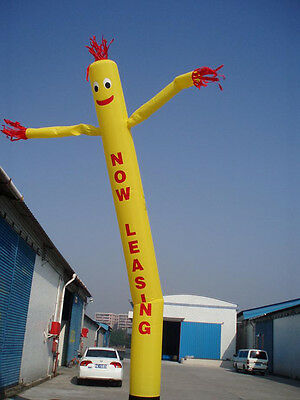 NOW LEASING Air Inflatable Sky Puppet Great Dancer - 20 FT Plain Yellow