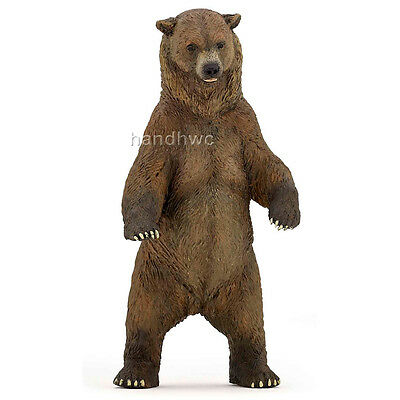 Papo 50153 Grizzly Bear Standing Model Animal Toy Figurine - NIP