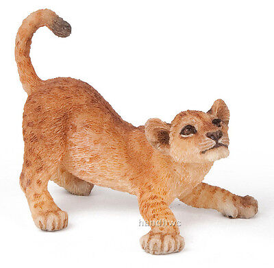 Papo 50126 Young Lion Cub Playing Wild Animal Figurine Model Toy - NIP