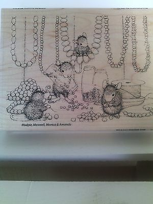 """House Mouse by Stampendous """"Jewelry Making"""" WM Rubber Stamp"""