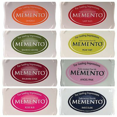 MEMENTO TSUKINEKO full size ink pad - choose one - 8 different colours - NEW
