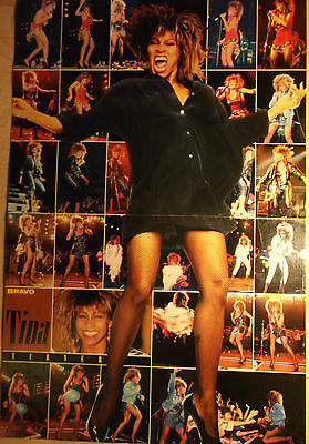 1 german poster TINA TURNER LIVE NOT SHIRTLESS ROCK SINGER GIRL BOY BAND BOYS